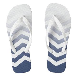 Ombre Chevron Style! | navy white Flip Flops