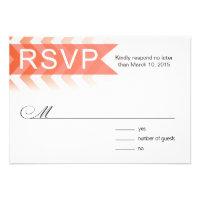 Ombre Chevron Style! RSVP | coral Personalized Invite