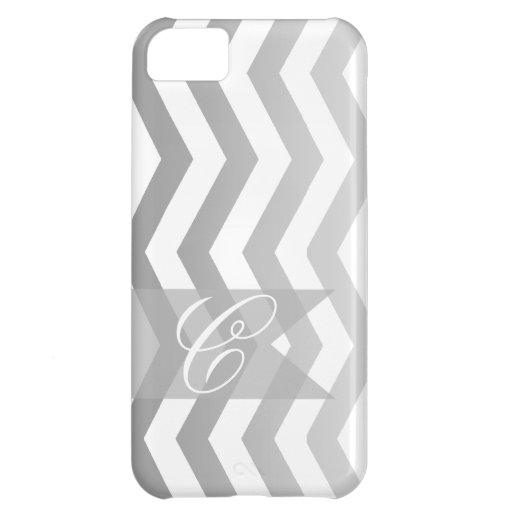 Ombre Chevron Style! | silver Monogram Case For iPhone 5C