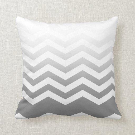 Ombre Chevron Style! silver Pillows