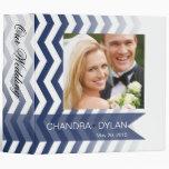 Ombre Chevron Style! wedding album   navy 3 Ring Binders