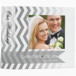 Ombre Chevron Style! wedding album   silver 3 Ring Binder