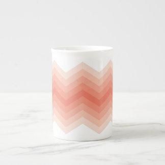 Ombre Chevron Tea Cup