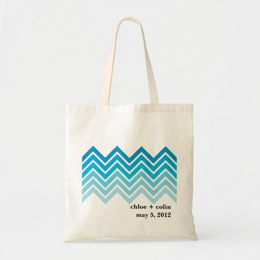 Ombre Chevron - Welcome/Out of Town Tote Bag