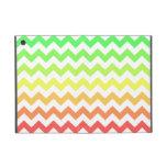 Ombre colorido Chevron iPad Mini Cárcasa