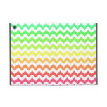 Ombre colorido Chevron iPad Mini Coberturas