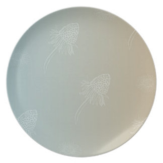 Ombre Daisies Party Plate
