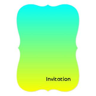 """ombre de la verde lima del amarillo de la moda del invitación 5"""" x 7"""""""