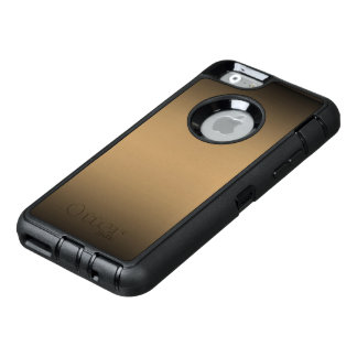 Ombre de oro negro funda OtterBox defender para iPhone 6