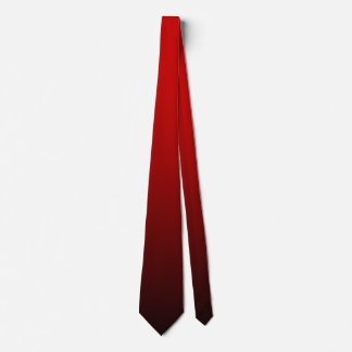 Ombre echado a un lado doble negro rojo corbata