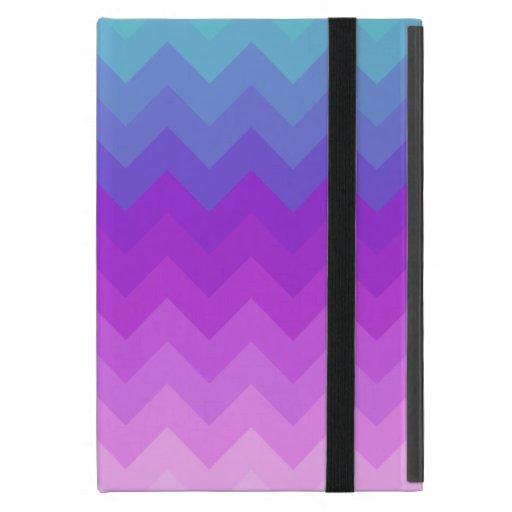 Ombre en colores pastel Chevron iPad Mini Carcasas