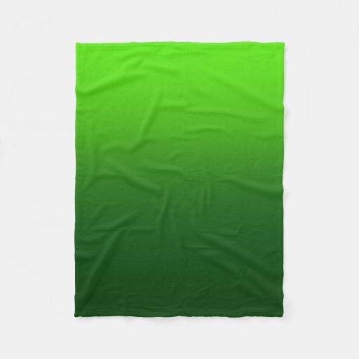 Ombre Fade Green Fleece Blanket Zazzle