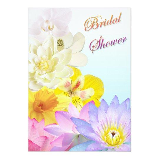 Ombre Floral Bridal Shower Invitation