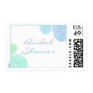 Ombre Floral Bridal Shower Postage Stamps