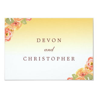 Ombre Floral Watercolor Wedding Response Cards Custom Invitations