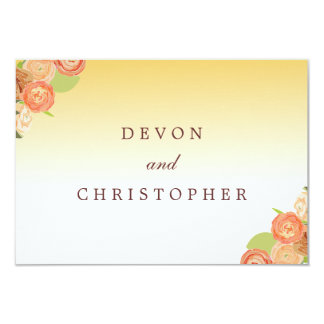 Ombre Floral Wedding Response Cards Personalized Invitation