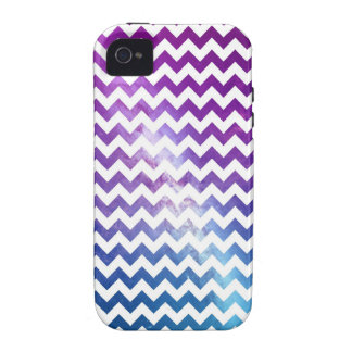 Ombre Galaxy Nebula with White Chevrons iPhone 4/4S Cases