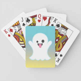 Ombre Ghost Emoji Playing Cards