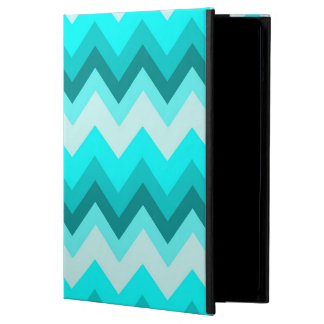 Ombre Girly Pattern Teal Turquoise Chevron Cover For iPad Air