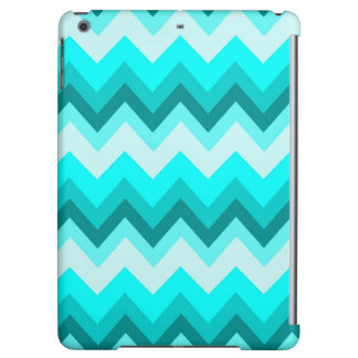 Ombre Girly Pattern Teal Turquoise Chevron iPad Air Cover