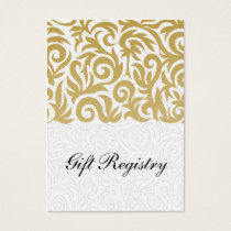 ombre gold and Black Swirling Border Wedding Business Card