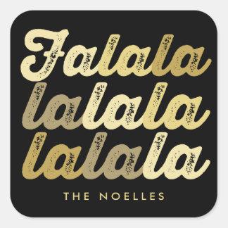 Ombre Gold Chic Falalalala Custom Holiday Sticker
