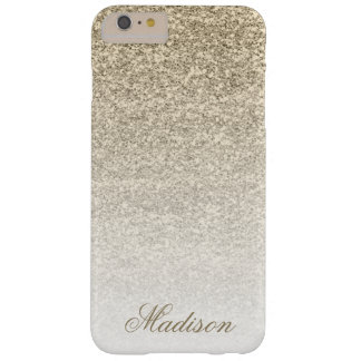 Ombre Gold Glitter iPhone 6+ Case Barely There iPhone 6 Plus Case