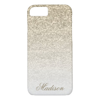 Ombre Gold Glitter iPhone 7 Case