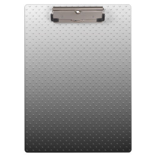 Ombre Gray Faux Metal Texture Clipboard