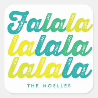 Ombre Green Lime Falalalala Custom Holiday Sticker