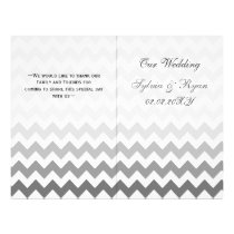 Ombre grey Chevron folded Wedding program