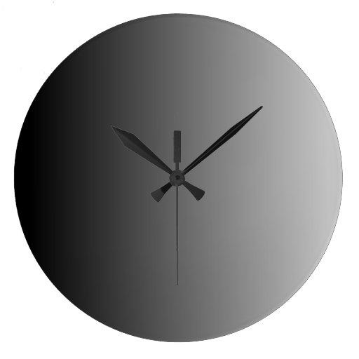 Ombre gris reloj redondo grande