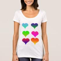 ombre heart shirt
