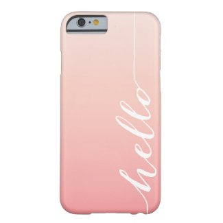 OMBRE HELLO | IPHONE 5 CASE iPhone 6 CASE