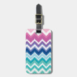 Ombre Ikat Chevron Tag For Bags