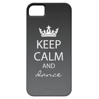 Ombre Keep Calm iPhone 5 Case-Mate Case (black)