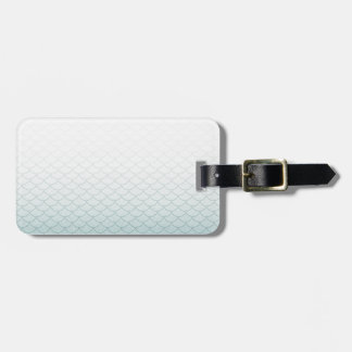 Ombre Mermaid Scales Luggage Tag