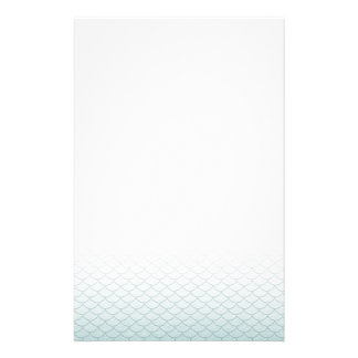 Ombre Mermaid Scales Stationery Design