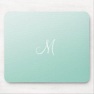 Ombre Mint Green Mouse Pad