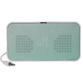 Ombre Mint Green Laptop Speaker
