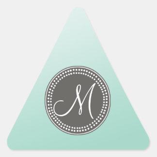 Ombre Mint Green Triangle Sticker