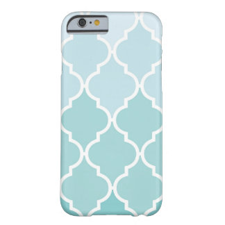 Ombre Moroccan Trellis, Latticework - Blue White Barely There iPhone 6 Case
