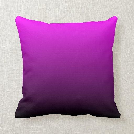 Ombre negro fucsia almohadas
