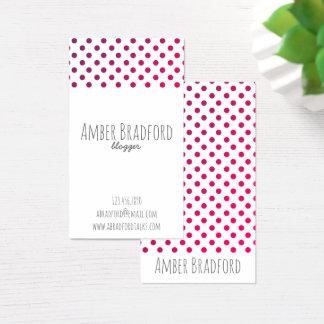 Ombre Ombré Purple Polkadot Business Cards