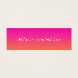 Ombre on the Horizon Mini Business Card