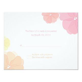 "Ombre Pastel Floral Wedding RSVP Cards 4.25"" X 5.5"" Invitation Card"
