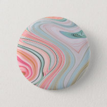 ombre pastel mint coral pink marble swirls pinback button