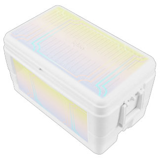 ombre pastels pattern,modern,trendy,pattern,simple chest cooler