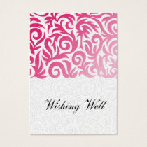 ombre pink and Black Swirling Border Wedding Business Card