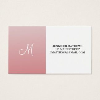 Ombre Pink Business Card